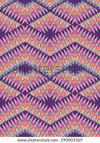 FashionAztec zigzag print design ~ seamless background - stock photo