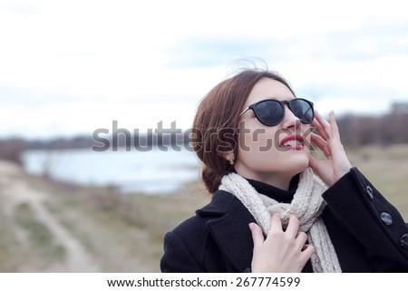 fasion woman - stock photo