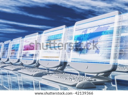 Fast Browsing the internet - stock photo