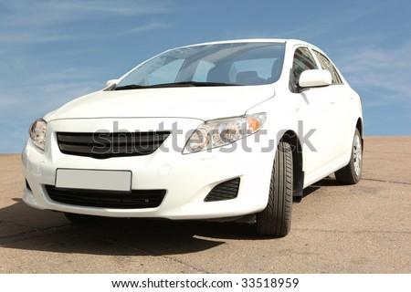 Fast car - stock photo