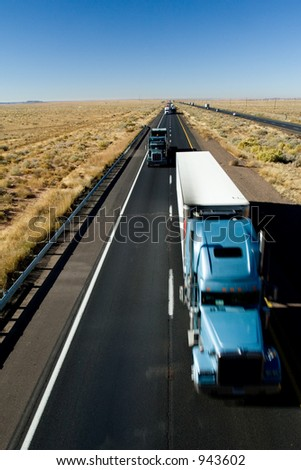 Fast delivery (motion) - stock photo