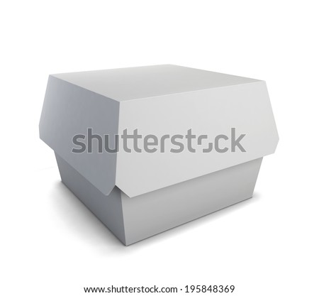 Fast food box. 3d illustration isolated on white background  - stock photo