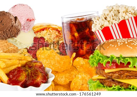 fast food concept - stock photo