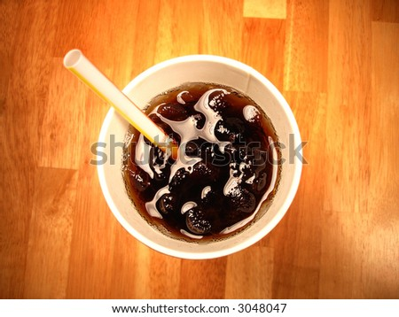 fast food drink - stock photo