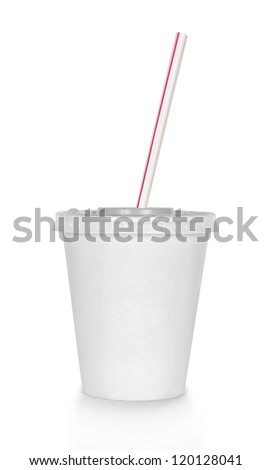 Fast food drink. Isolated on white