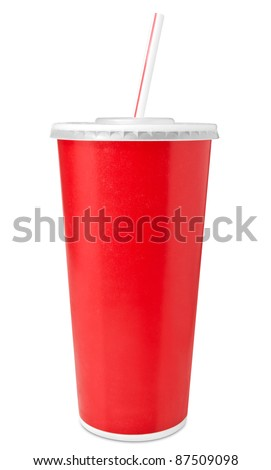 Fast food drinking cup - stock photo