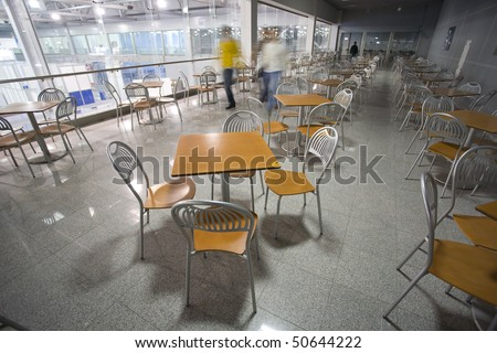 Fast food in modern building. - stock photo