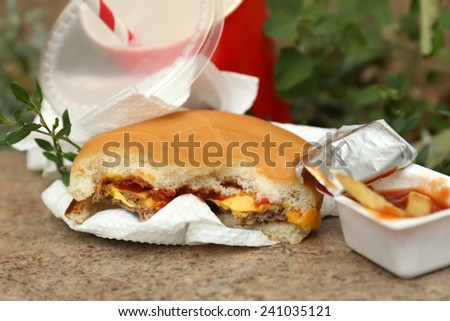 Fast food litter - stock photo