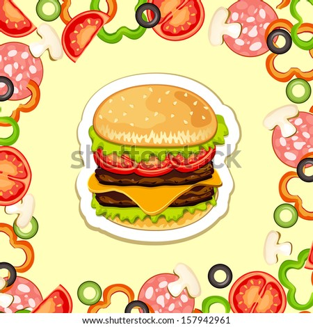 Fast food products. - stock photo