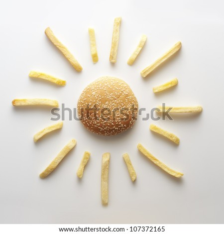 Fast food sun - stock photo