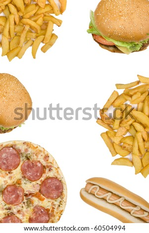 Fast food with copyspace XXL size image - stock photo