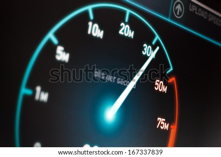 Fast Internet Connection - stock photo