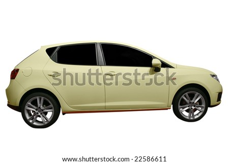 fast modern car isolated - stock photo