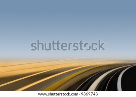 Fast Motion Curve - stock photo