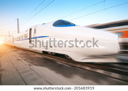 fast moving train