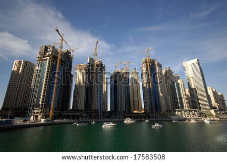 Fast Paced Construction Of Waterfront Buildings In Dubai