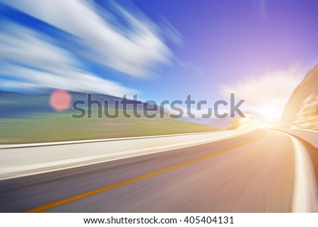 fast road  - stock photo