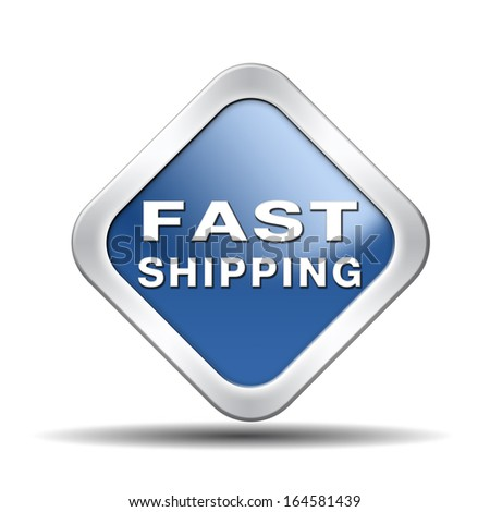 fast shipping package delivery from online internet webshop order shopping icon or button for web shop