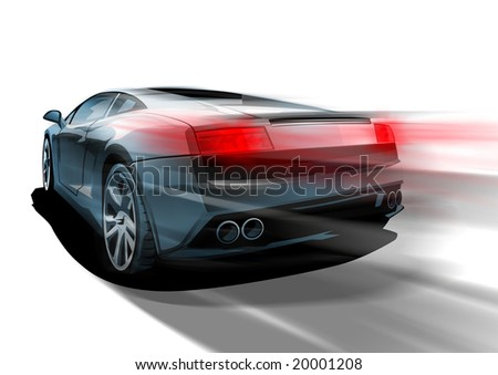 fast sports car - stock photo