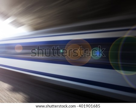 fast train passing by station
