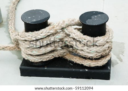 Fastened a rope - stock photo