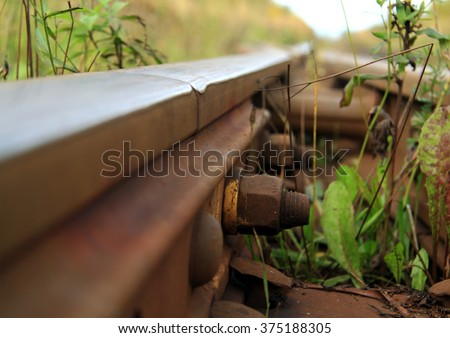 Fasteners of the rails