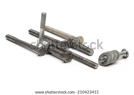 fasteners on the white background