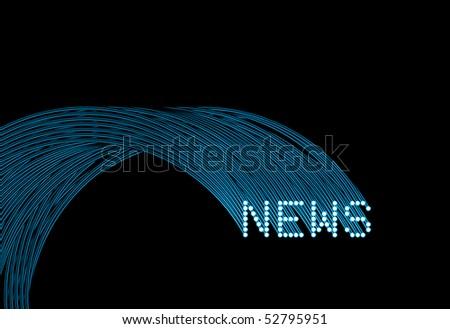 fastest news - stock photo