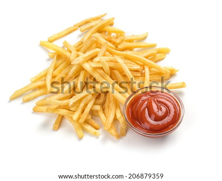 Fastfood. French fries - stock photo