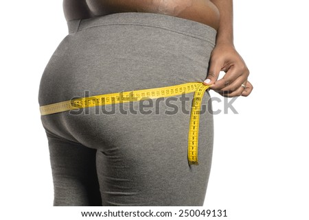 Fat ass - stock photo