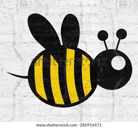 Fat bee - stock photo