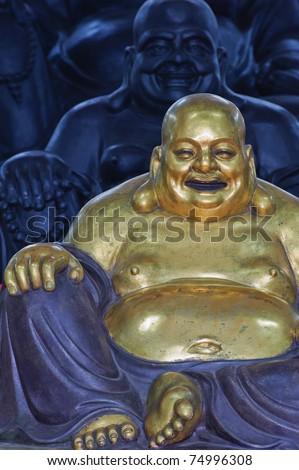 Fat buddha. - stock photo