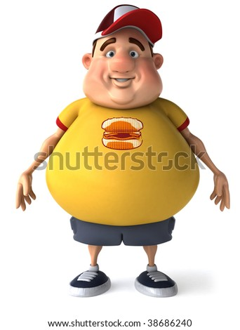 Fat kid - stock photo