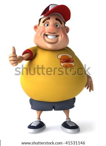 Fat kid - stock photo