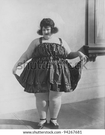 FAT LADY - stock photo