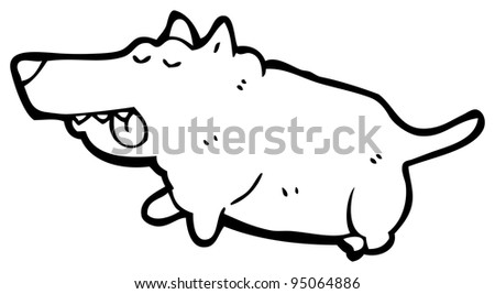 fat little dog cartoon