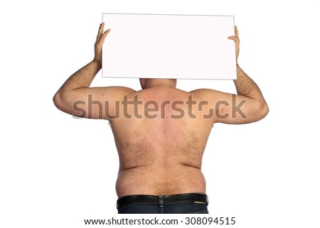 fat man - stock photo