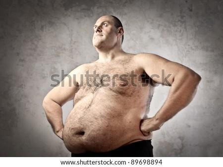 Fat man - stock photo