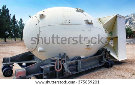Fat Man was the first atomic bomb. - stock photo