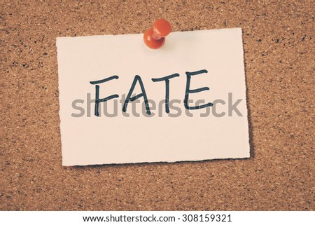 fate - stock photo