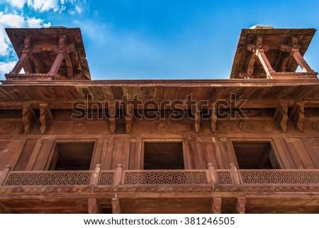 Fatehpur Sikri roof - stock photo
