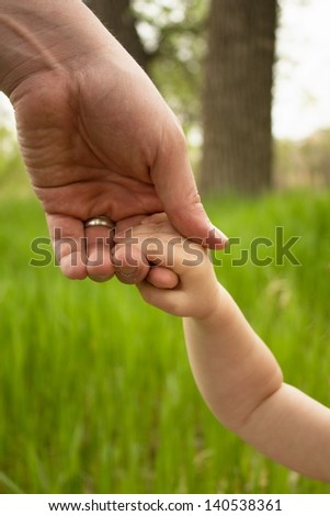 Father and Daughter hands