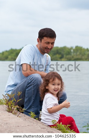 Father and Daughter spending quality time together
