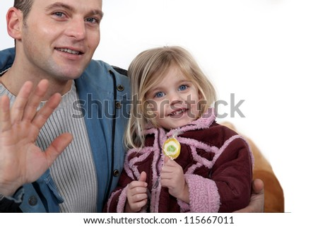 Father and daughter spending quality time together - stock photo
