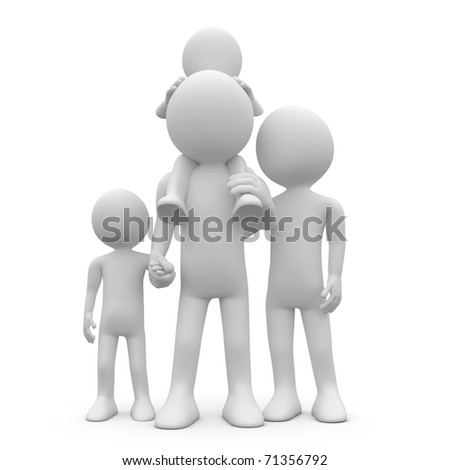 Father and mother with their two children