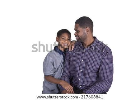 Father and son bonding - stock photo