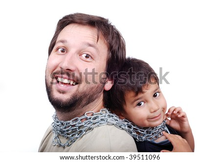 Father and son in chain