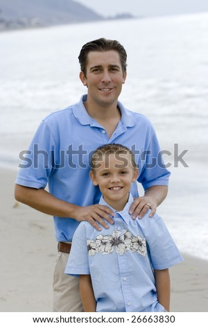 Father and Son Portrait - stock photo