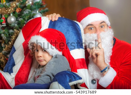 Father Christmas and a kid