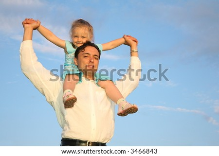 father daughter shoulders